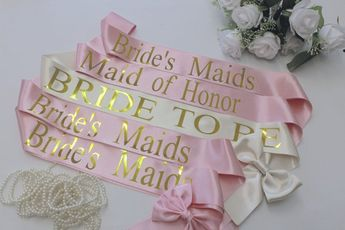 bridal sash wedding sash personalized bride to be bridesmaid sash bridal