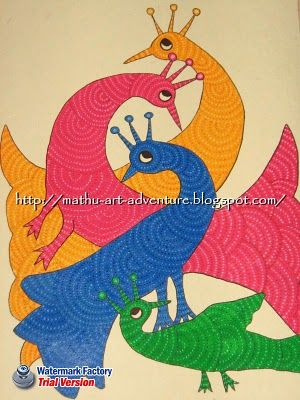 Gond peacocks