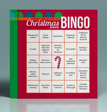 A fun game to play while watching cheesy Christmas movie marathons! A great gift idea for friends! #christmasmovies #christmas #giftideas #christmasgames