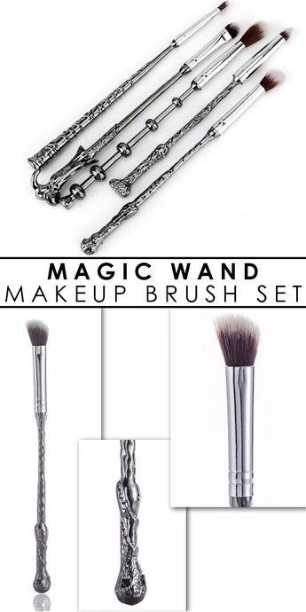 5 Piece Magic Potter Wand Inspired Brush Set