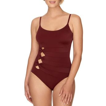 d7ea154b3075c Lands'end Women's Slender Grecian One Piece Swimsuit with T