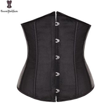 ac227503ce Satin Mini Waist cincher Bustiers Top Workout Shape Body shaper Plus Size  Underbust sexy women Corset