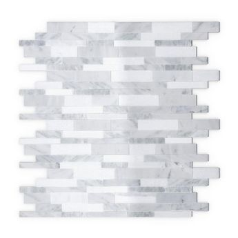 Inoxia SpeedTiles Gray Agate White and Gray 11.65 in. x 11.34 in. x 5 mm Stone Self-Adhesive Wall Mosaic Tile (11.04 sq. ft. /case)