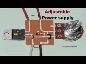 Adjustable power supply with LM317 - YouTube