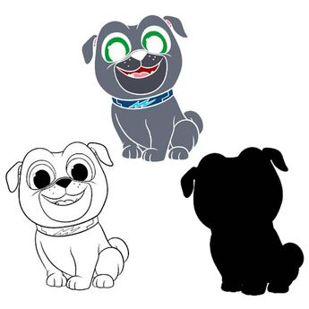 Puppy Dog Pals Bingo And Rolly Disney Junior Svg Files