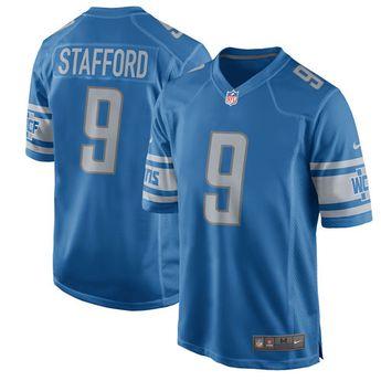 b99c4d518 Men s Detroit Lions Matthew Stafford Nike Blue 2017 Game Jersey