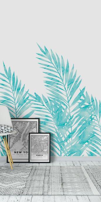 Palm Leaves Island Paradise Wall mural