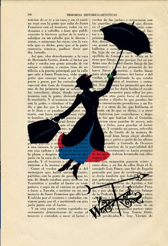Flying Mary Poppins Silhouette Art Print Weathercock Poster Book Art Dorm Room Print Gift Print Wall Decor Poster Dictionary Print