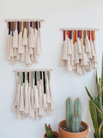 Mariposa / macrame wall hanging