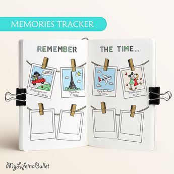 Memory Tracker | For Journals & Planners - Fits A5, Junior, Leuchtturm (Printable PDF)