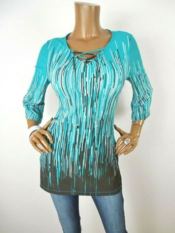 3fbad78fe6ef CHICO'S Sz 0 Womens Top S EASYWEAR Fashion Shirt Lace Up Tunic Stretch  Casual #Chicos