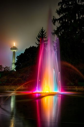 Fountain in Victoria Park, Niagara Falls, Ontario -Photograph, Niagara Fountain by Rob Elliott