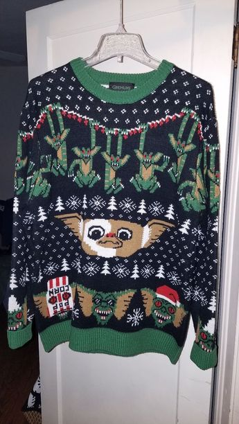 ddb44c28 Gremlins Mondo Funny Ugly Christmas Sweater Rare Size Large #fashion  #clothing #shoes #