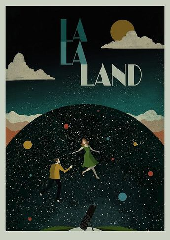 La La Land La La Land is officially my new favourite film so I couldnt not create a poster. City of stars, are you shining just for me? An original piece of artwork created by myself, made up of several techniques, from hand drawn illustration, photo montage, vintage fabric collage & digital artwork. The dimensions of this print are: A3 (29.7 x 42cm) (11.69 x 16.54) (pictured) Perfect for framing! If you would like a framed piece of work- please dont hesitate to contact me. Every 30...