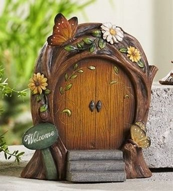 Details about Miniature Dollhouse FAIRY GARDEN ~ Fairytale ENCHANTED Door w Drawbridge ~ NEW