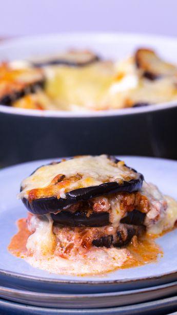 Craquez pour nos lasagnes d'aubergine à la grecque