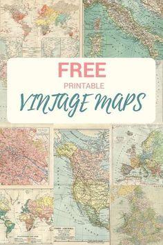 Wonderful Free Printable Vintage Maps To Download