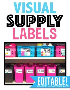 Visual Supply Labels {White Series}