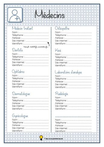 La liste de tous mes médecins et paramédicaux - #LISTE #médecins #Mes #paramédicaux #tous