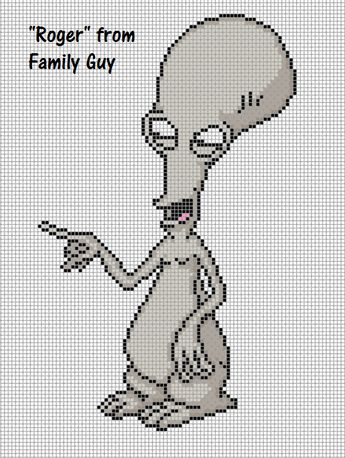 Stewie Family Guy Perler Bead Pattern