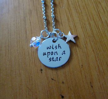 Pinocchio Necklace Wish Upon A Star Jiminy Cricket Neck