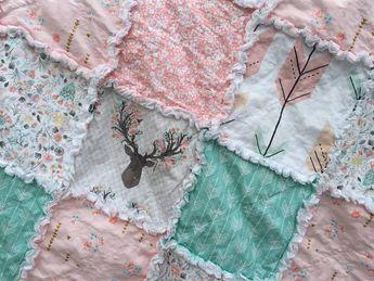 Rag Quilt Brambleberry Ridge Deer Antlers Baby Rag by WatchMyDive