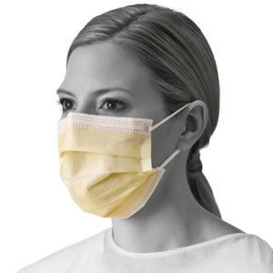 Basic Isolation Mask With Ear Loops, Yellow 50 Each / box