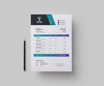 Seven Creative Invoice Design Template 5.99