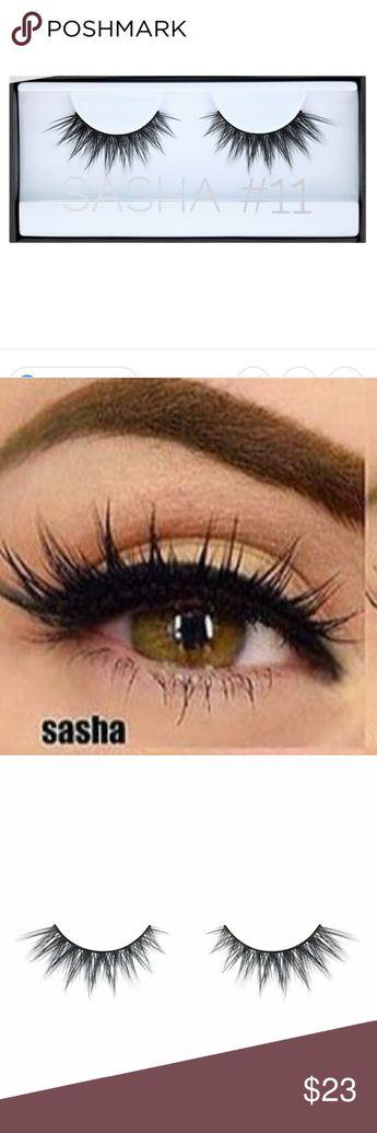 722419f13c5 New Huda beauty sasha #11 black lashes faux Brand new and sealed in the Box