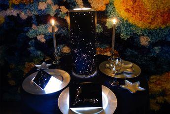 Shadow Star Constellations Shade & Table Lamp CENTERPIECE - Spring Night Sky North-Western Hemisphere - Planetarium New Year's EveWedding