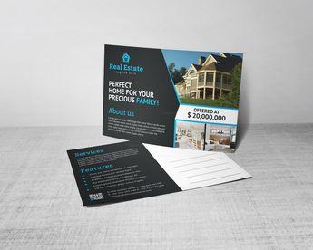 Venus Creative Real Estate Postcard Design Template - Graphic Templates