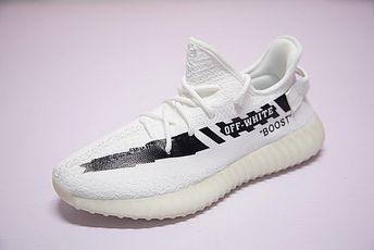 best service de868 374a8 2018 Off White X Adidas Yeezy Boost 350 V2 White Black 2018 Newest Sneaker