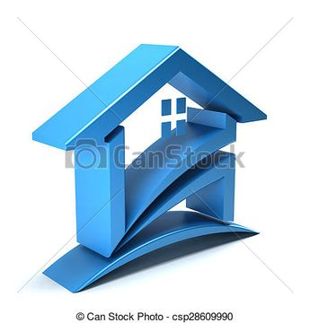 Stock Illustration of 3D House Logo csp28609990 - Search Vector Clipart, Drawings, and EPS Graphics Images