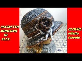 Cappello Cloche Anni 20 Alluncinetto Tesa Larga Davanti E