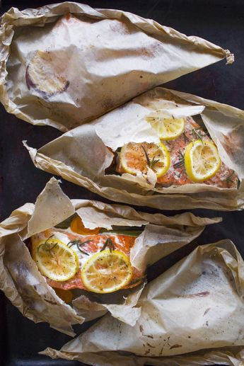 Salmon and Vegetables en Papillote (in parchment)