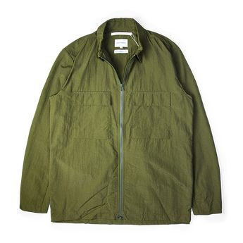 27eb3f40c Norse Projects Jens Zip Jacket Overshirt Ivy Green