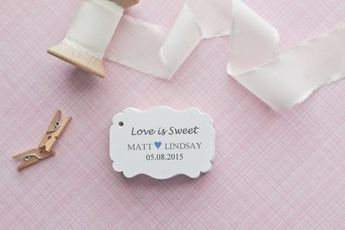 Gift Tags-Wedding Favors-Bridal Shower favors-Candy Bar Tags-Wedding Thank you Tags-Love is Sweet Ta