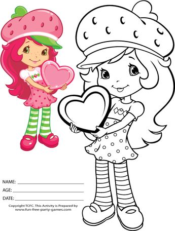Strawberry Shortcake Coloring Page Printable 1342321