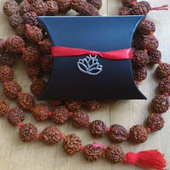 7647d5b47 Shiva Trishul necklace with Mukhi Rudraksha mala beads pendant, Kundalini  Yoga jewelry women men,