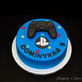 Personalised Sugarpaste PS4 Playstation 4 Controller Joystick Xbox Cake Toppers Decorating Birthday Cakes
