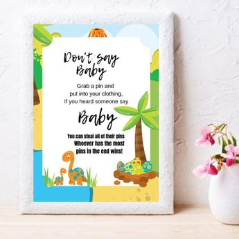 Elephant Baby Shower Games Package Printable Baby Shower