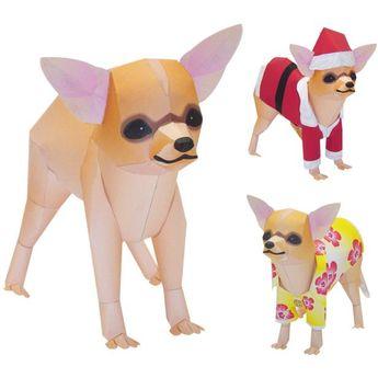 Chihuahua,Animals,Paper Craft,North America / South America,Small-size,Mammals ,Animals,dog,Paper Craft