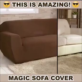 """Magic Sofa Cover 😍 """"Wow. I am so impressed with this cover! It fits so well! For the price I am beyond pleased. My microfiber couch gets a lot of use and has picked up a lot of dark spots. I finally reached the stage that scrubbing no longer took them out so this cover was my answer."""""""