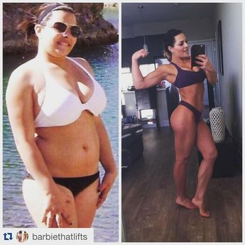 Before and after weight loss transformation story... Great meal prep inspiration and fitness motivation! | TheWeighWeWere.com #Dietandfitness