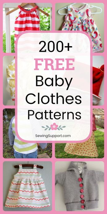 200+ Free Baby Clothes Patterns