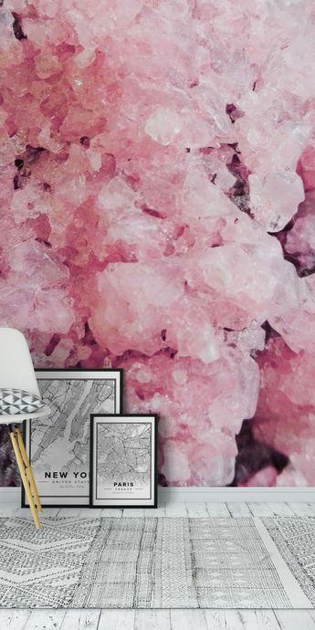 Pink Crystals Wall mural