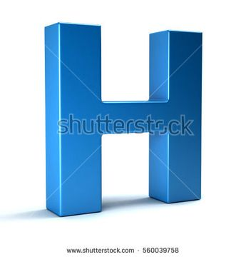 H Letter Icon. 3D Render Illustration