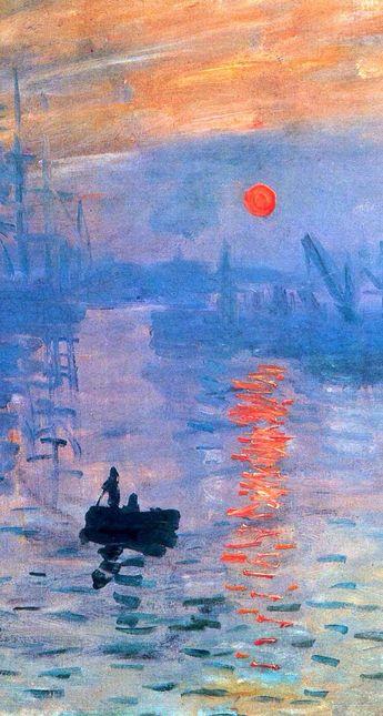 Impressione,sole nascente - Claude Monet, 1872, oil on canvas 48x63cm. Impression: Sunrise