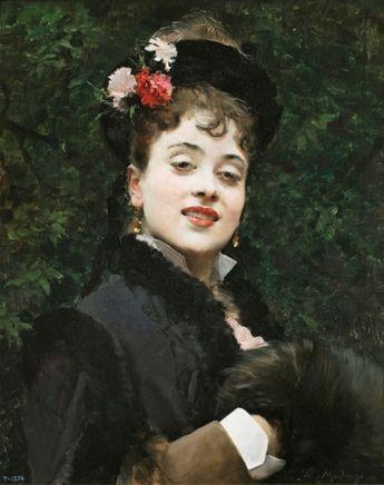 Raimundo de Madrazo,The Model Aline Masson, 1876, Realism