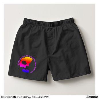 SKULETON SUNSET BOXERS | Zazzle.com